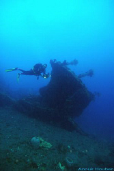 Picture taken at the U.S.A.T Liberty wreck in Tulamben, B... by Anouk Houben