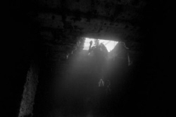 Up the Hatch, Shot taken Natural light ISO 1600 B & W fil... by Michael Salcito