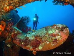 Prop Der Yang, Sony W200 Wreck of the Der Yang in Kavieng... by Steve Blume