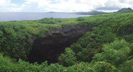 Saipan Grotto from lookout. by Martin Dalsaso