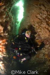 Diver In Coral Gully, St. Abbs, Scotland. Nikon D70, 10.... by Mike Clark