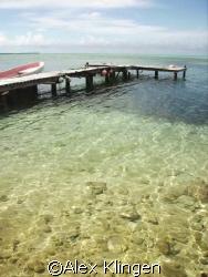 Dockside, Half Moon Caye, Belize by Alex Klingen
