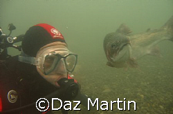 A trout posing for this shot Capernwray 2007 by Daz Martin