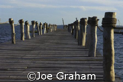 At the end of the jetty .......