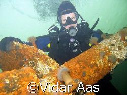 Wreck diving in the fjord. by Vidar Aas