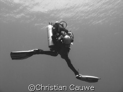 descent with style, blue hole, dahab by Christian Cauwe
