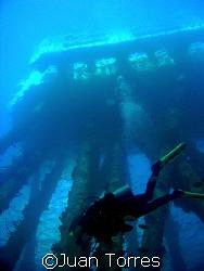 Diver in Salt Piers, Bonaire.  Natural light.  Canon S70. by Juan Torres