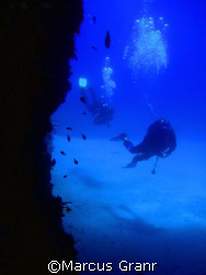 This shot was taken on the island of Gozo, at a dive site... by Marcus Granr