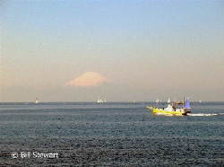 Looking across Sagami Bay at Mount Fuji. Photo  taken on ... by Bill Stewart