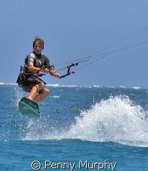 My 12 year old carving it up. Coral Bay by Penny Murphy