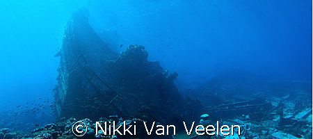 Composition of 4 images to make up the stern of the wreck... by Nikki Van Veelen
