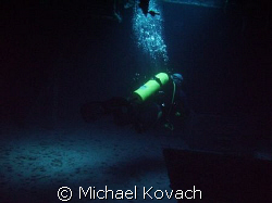 Mika Pennanen on the wreck of the Spiegel Grove out of Ke... by Michael Kovach