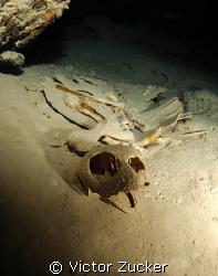 Turtle graveyard, cave in sipadan by Victor Zucker
