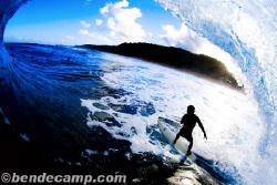 Pipeline, Oahu, HI Behind the surfer. by Ben Decamp