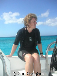 Kim resting after a good dive. Why the intense expression by Karl Hodgkins