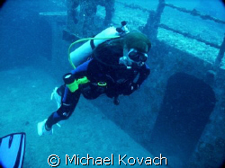 Barbara Winn on the wreck of the Spiegel Grove out of Key... by Michael Kovach