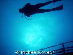 Barbara Winn above the Spiegel Grove out of Key Largo by Michael Kovach