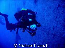 Darren Walsh at the wreck of the Spiegel Grove by Michael Kovach
