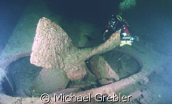 The propellor on the Sonja Maersk, wrecked near Halifax, ... by Michael Grebler
