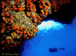 """From inside a cave in marine protected """"Plemmirio"""" - Syra... by Fabrizio Frixa"""