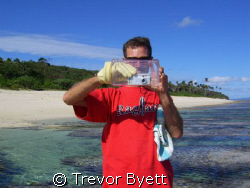 The latest cookie jar and rubber glove underwater housing... by Trevor Byett