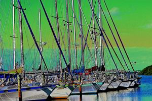 This picture was taken in Florida. I Solarized the image ... by Blair Hughes