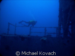 Diver on the Spiegel Grove out of Key Largo by Michael Kovach