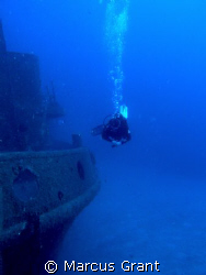 Passing by. Diving on the wreck of the tug boat Rozi by Marcus Grant