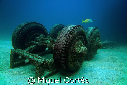 "Truck of the ""Salvatierra"", a wreck in the Sea of Cortez ... by Miguel Cortés"