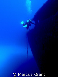 This was taken on the wreck of the Um El Faroud.  by Marcus Grant