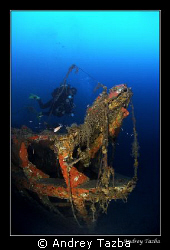 Skeleton. Torpedo boat S-31. Depth 65 m. by Andrey Tazba