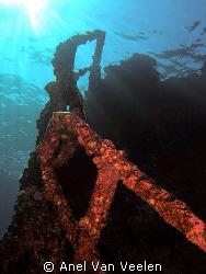 Stern of kormoran wreck taken with olympus sp350. by Anel Van Veelen
