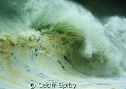 the power of the sea-during a winter storm in False bay, ... by Geoff Spiby