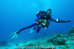It's Videoman!!!  (My divebuddy) by Louwrens De Lange