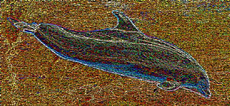 Mosaic of a dolphin. cropped and photoshoped- by Andy Kutsch