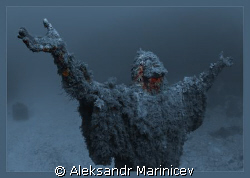 Statue of Jesus Xrist in memory about the lost fishermen.... by Aleksandr Marinicev