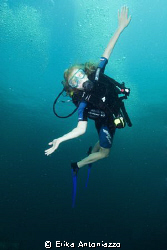 Young student of mine having fun under water. by Erika Antoniazzo