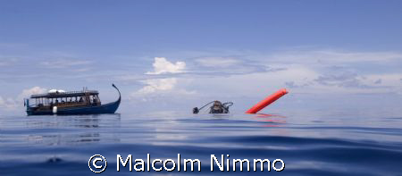 Contented diver at the surface ... by Malcolm Nimmo