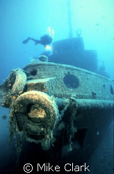 Diver enjoying the rozi wreck.