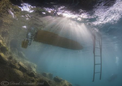 Rescue boat. Capernwray. D200, 10.5mm. by Derek Haslam