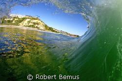 Inside out/barrel tube surfing...Salt Creek, CA, that's t... by Robert Bemus