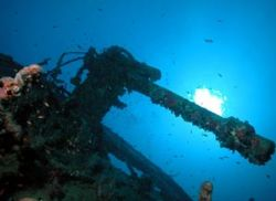 Thistlegorm (Anti-aircraft Gun) taken with Nikon Coolpix ... by Colin Osborne