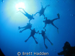Taken from the bottom of the Canyon in Dahab. by Brett Hadden