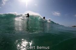 Sharing the peak/wave_water sports_surfers _surfing_surf by Robert Bemus