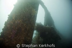 shot taken at the propellor of the Dunraven by Stephan Kerkhofs