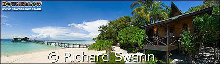 Lankayan Dive station, Jetty and my Chalet....  Wonderful ! by Richard Swann