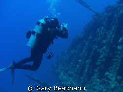 Diver on wreck of Carnatic by Gary Beecheno