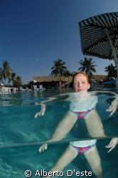 Carlotta in pool by Alberto D'este