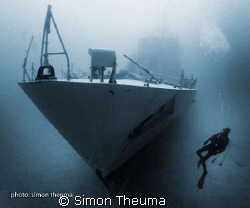 Silent Running - P29 wreck Cirkewwa Malta.  by Simon Theuma