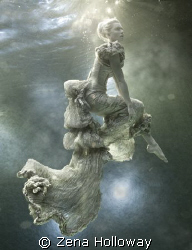 Golden dress by Zena Holloway